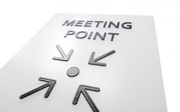 Türschild Meetingpoint barrierefrei taktil braille