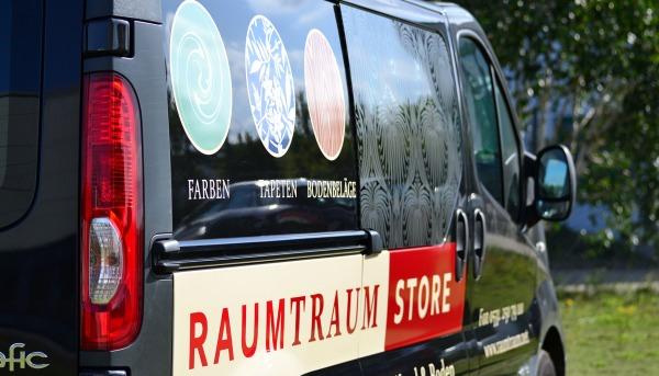 Fahrzeugbeschriftung Raumtrum Detail