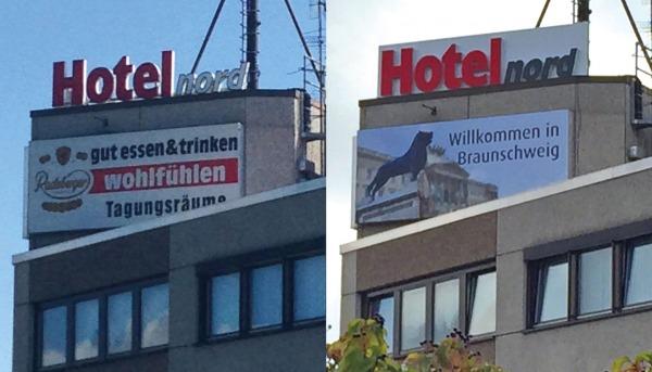 """Hotel nord sagt: """"Willkommen in Braunschweig"""""""