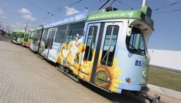 Straßenbahnbeschriftung BS Energy