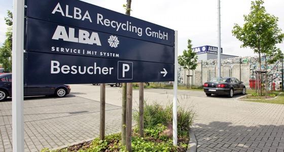 Aufsteller Parkplatz ALBA