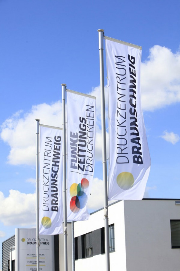 Fahne Druckzentrum Braunschweig