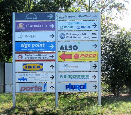 sign point Wegweiser