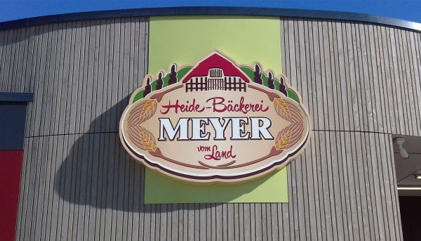 Leuchtkasten Heide-Bäckerei Meyer