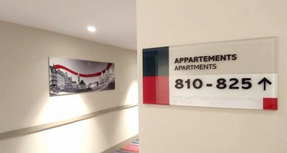 Taktiles Türschild Apartements